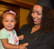 graduate and her child